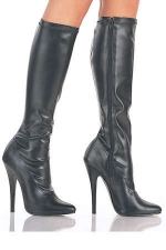 Bottes Domina : Bottes en vynile stretch mat ou brillant, talons de 15 cm.