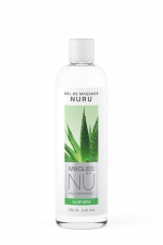 Gel massage Nuru Aloe Vera Mixgliss - 250 ml : Gel de massage NÜ par Mixgliss pour redécouvrir le plaisir du massage Nuru. Formule enrichie en Aloe, flacon de 250 ml.
