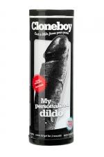 Gode personnalisable noir Cloneboy : Fabriquez très simplement La copie exacte de votre pénis en silicone noir.