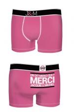 Boxer J&M en coton - Fuschia : Ne loupez jamais une belle occasion de montrer votre... Boxer (modèle fuschia en coton) Jacquie et Michel.