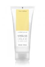 Mixgliss eau - Délice Vanille 70ml : Lubrifiant intime embrassable à l'arôme naturel de vanille.
