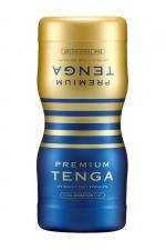 Masturbateur Premium Dual Sensation Cup - Tenga : La version Premium du masturbateur à double entrées (anal+vaginal) Tenga Dual Sensation, pour varier les expériences et les sensations