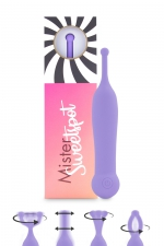 Stimulateur clitoridien Mister Sweetspot violet - Feelztoys : Petit vibro violet en silicone, offrant une stimulation puissante et ciblée pour les zones érogènes et le clitoris.