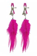 Pinces mamelons à plume : Paire de pinces à seins Fetish Fantasy Series, ornées de plumes à leur extrémité.