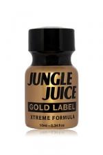 Poppers jungle juice gold label 10ml : Poppers Jungle Juice à base d'Amyle, en version gold extrême en raison de l'intensité et de la pureté de sa formule.
