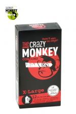 12 Préservatifs Crazy Monkey X-Large : 12 préservatifs taille XL, couleur rouge, avec saveur de fraise, pour les gros calibres par Crazy Monkey.