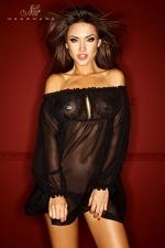 Robe Bad Midness : Robe vaporeuse en voile de mousseline, elle vous habille de légèreté et de transparence.